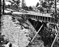 8x10 Civil War Photo: View Of Canal Aqueduct At Petersburg, Virginia