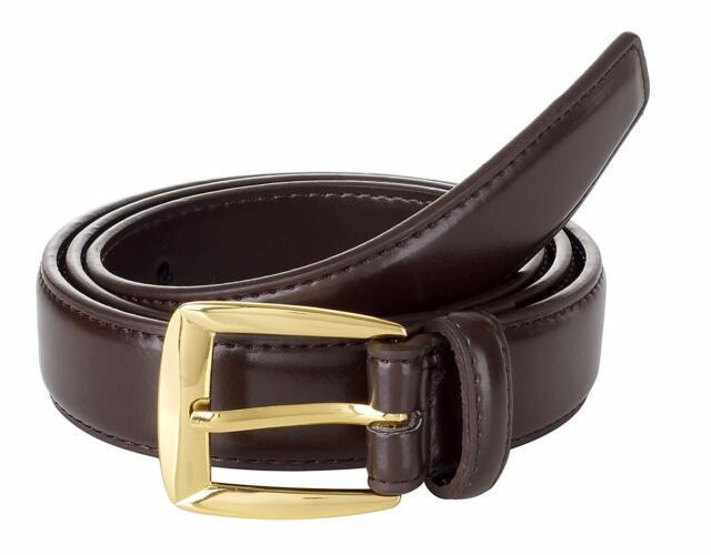 "M Size 34-36 Men/'s BLACK Double Stitched Genuine Leather Dress Belt Width 1 1//8/"""