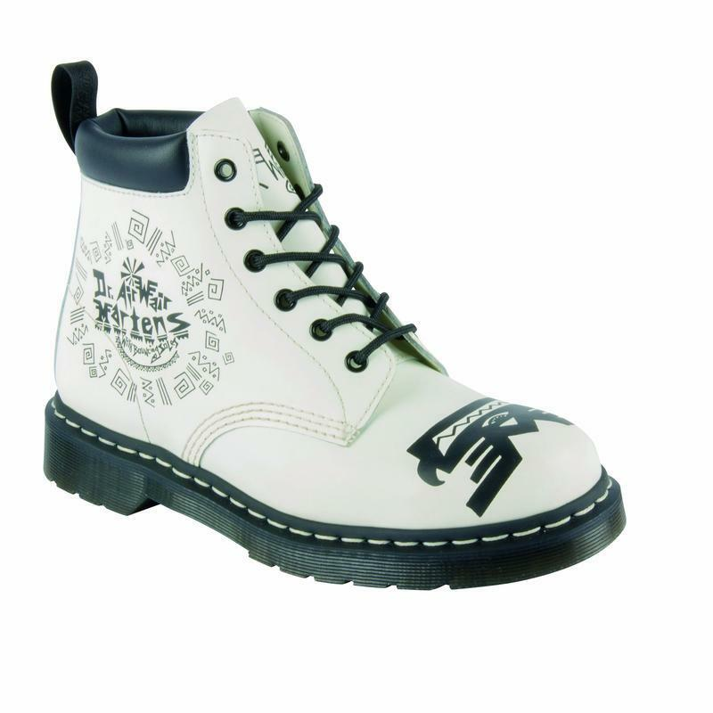 Dr Martens 6  Loch 939 White Black 16721101 Original Doc
