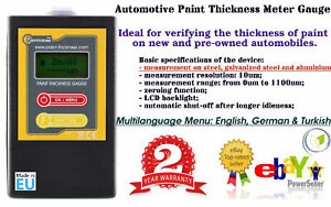 DIGITAL PAINT COATING THICKNESS GAUGE 2018 MODEL NEW CE