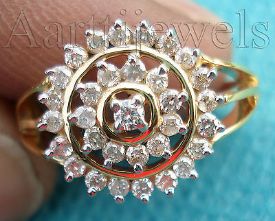 0.80ct Diamond 14k Yellow Gold Engagement Women's Ring Christmas Season