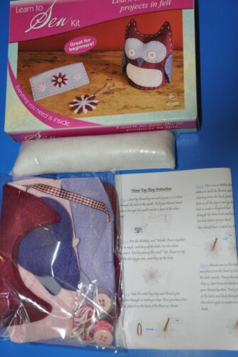 Children/'s Knitting Craft Bag with a Starter Learn to Knit Crochet or Sew Kit
