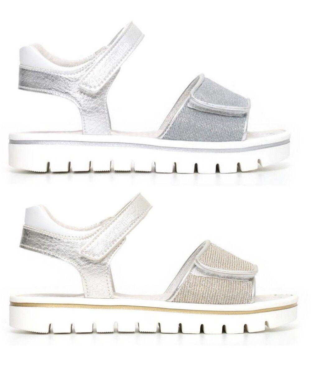 NERO GIARDINI TEEN P830500F scarpe donna bambina sandali pelle glitter zeppa