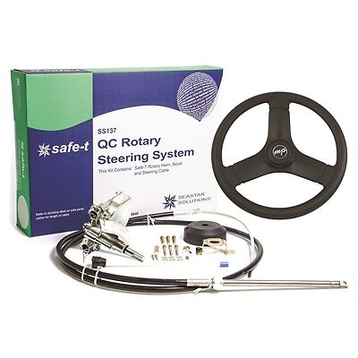 "SeaStar Teleflex  SS13718 Safe-T QC Rotary 18 Foot Steering WITH 13/"" WHEEL"