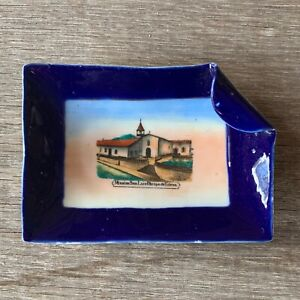 Vintage MISSION de TOLOSA Souvenir China Spoon Dish SAN LUIS OBISPO California