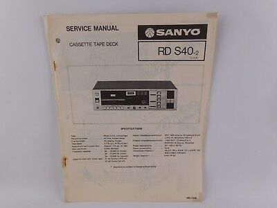 SANYO RD S40-2 CETTE TAPE DECK ORIGINAL SERVICE MANUAL | eBay on