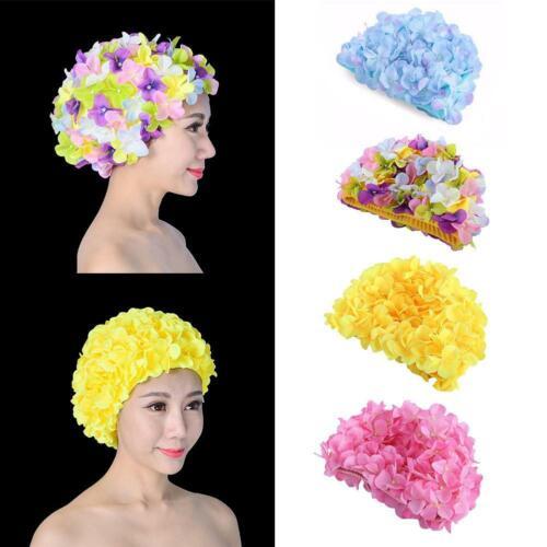 3D Petal Swimming Cap For Long Hair Outdoor Women Flowers Design Hat Swim Cap