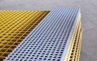 Frp Grating, 4'x12' Single Deck Grating Mesh Panel, 1.0 Thickness