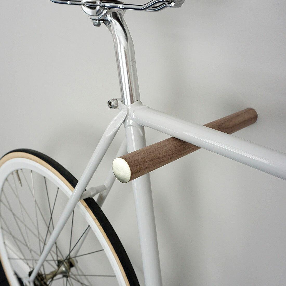 MURO BICICLETTA SUPPORTO BICI Hooks massiccio legno Bicicletta Staffa muro Supporto a parete