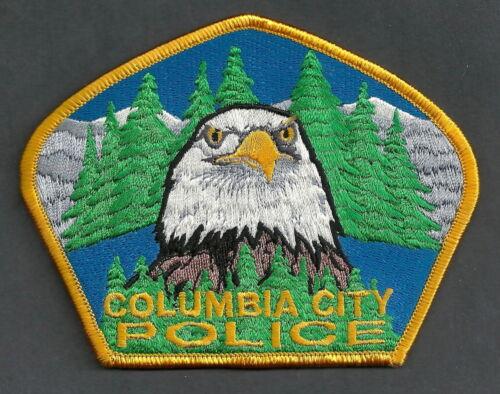 COLUMBIA CITY OREGON POLICE SHOULDER PATCH