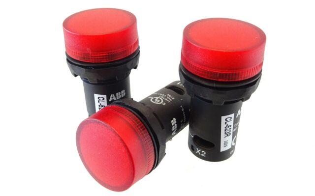 3x ABB Meldeleuchte CL-523R Pilot Light Leuchtmelder Indicator LED rot 230V AC
