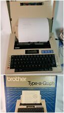 Brother Type A Graph Bp 30 Vintage Portable Typewriter Works Excellent Cond