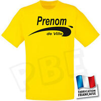 Tee-shirt Jaune brice De Nice, Prénom Et Ville Aux Choix V2 ( S,m,l,xl,2xl.)
