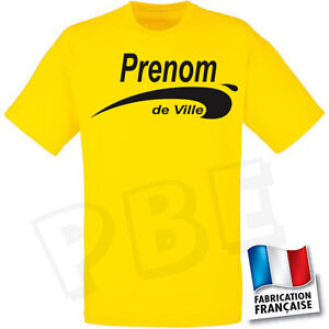 tee shirt jaune brice de nice pr nom et ville aux choix. Black Bedroom Furniture Sets. Home Design Ideas