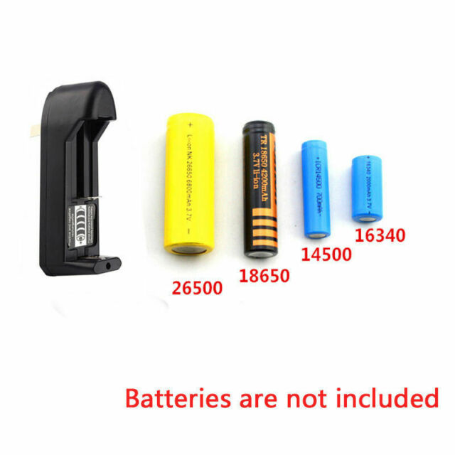 US Plug Dual Battery Charger For 18650 16340 26650 Rechargeable 3.7V Li-ion
