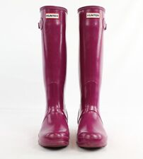 Hunter Purple Rubber Rain Boots Size 7