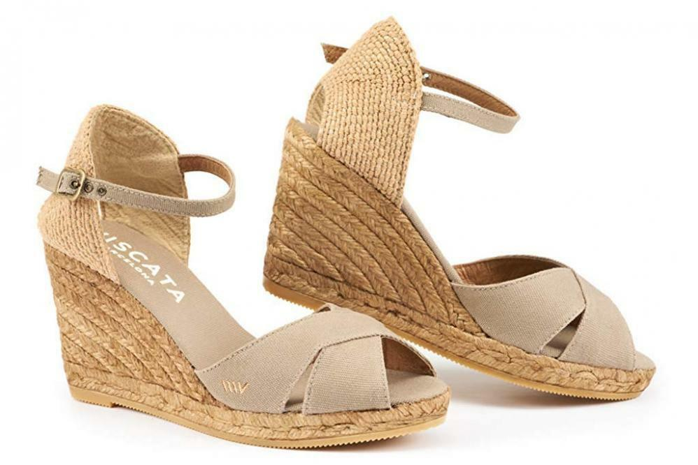 VISCATA Aiguablava 3  Wedge, Fashionable, Ankle-Strap, Open Toe, Espadrilles...