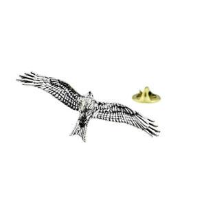 Eagle Bird English Pewter Lapel Pin Badge XTSPBB14