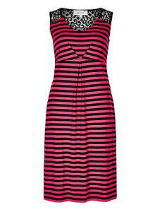 Fa-M-Ou-S-High-St-Store-Per-Una-Red-and-Black-Striped-Shift-Dress-RRP-39-50