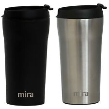Ceramamugs Ceramic Lined Mugs 2 Stainless Travel 12oz Lids Steel 8w0OvmNn