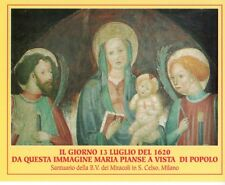 898 Madonna B.V. dei Miracoli -S. Celso  Santino Holycard
