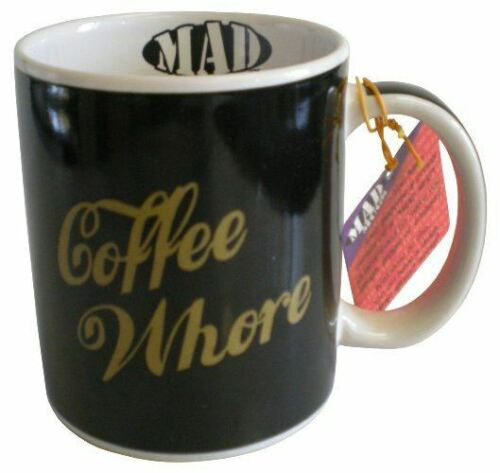 Novelty Outrageous Ceramic Coffee Whore Drinking Cup Humour Mug