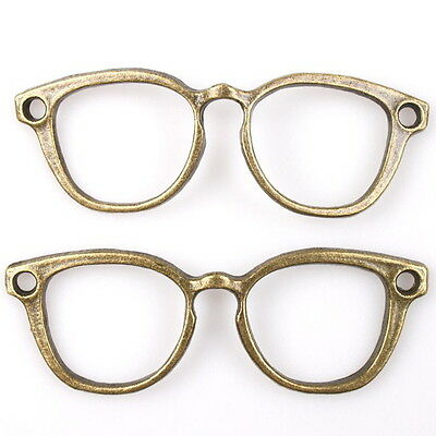 20x 145216 Fashion Spectacle-frame Bronze Charms Alloy Pendants Hot Findings