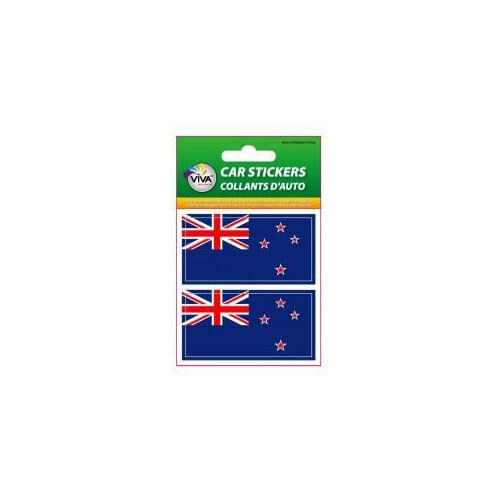 NEW ZEALAND SET OF 2 COUNTRY FLAG VINYL CAR STICKERS..1 3//8 X 2 3//4 INCH