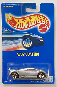 1993 Hotwheels Audi Avus Quattro 208 SILVER VARIANTE! Nuovo di zecca! molto RARO! MOC!