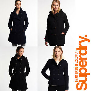 New-Ladies-Womens-Superdry-Winter-Coats-Jackets-Wool-Toggle-Luxury-Trench-Sizes