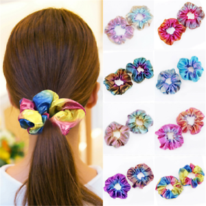 Boho-Elastic-Bronzing-Hair-Rope-Glitter-Ponytail-Holder-Hair-Ring-Scrunchie