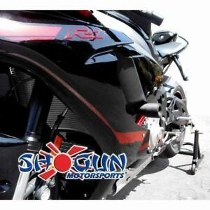 Details About Yamaha 2015 2019 Yzf R1 Shogun Racing Frame Sliders No Cut Version Black