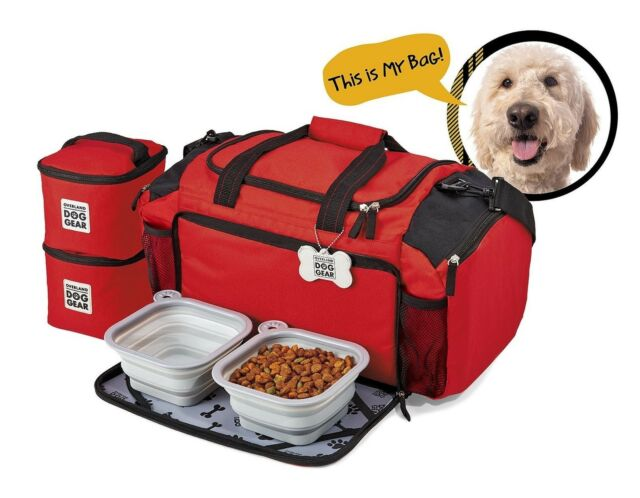 Overland Dog Gear Ultimate Week Away Duffle Bag Medium Large Dogs Easy To Travel