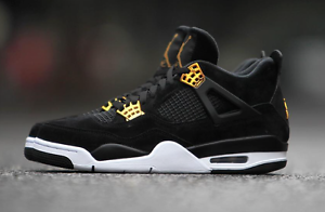 2017 Nike Air Jordan 4 IV Retro Royalty Black Gold Size 12. 308497 ... ae21b4b79