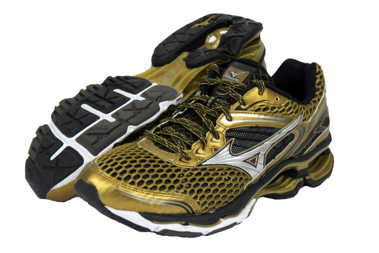 New Men's Mizuno Wave Creation 17 Running Shoes Size 9 Gold J1GC151850 LAST PAIR