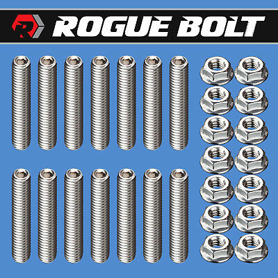 CHROME BIG BLOCK CHEVY VALVE COVER BOLT SET FITS bbc 396 427 454 502 14 pc KIT