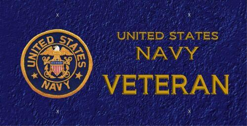 LP347 Navy Veteran License Plate