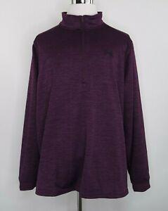 Under-Armour-Coldgear-Loose-Fit-Mens-Sz-3XL-Purple-1-2-Zip-Fleece-Pullover-Shirt