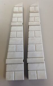 Playmobil Castle Grey Female Wall End Connector Buttress 3030 3666 Set of 2