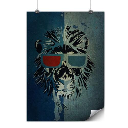 Lion Swag Cool Animal Matte//Glossy PosterWellcoda