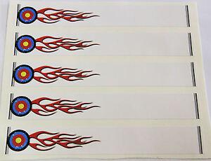 """0928 Vinyle Hd Arrow Wraps-flaming Target 2 Large 0.75"""" 7"""" Long (12 Pack)-afficher Le Titre D'origine"""