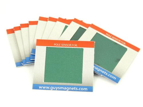 Magnet Pole Sensor Foil Flux Detector card neodymium alnico ferrite smco