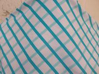 2 Yd Good Weight Blue Cross Hatch Pattern On White Nylon Lycra S38
