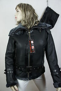 New-Women-100-Shearling-Leather-Sheepskin-Pilot-Bomber-Fly-Aviator-Jacket-Coat