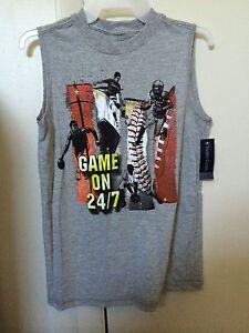 23e31ee3ad98c6 Walmart Faded Glory Women Boy Grey Graphic Basket Ball Sport Muscle ...
