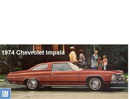 1974 Chevrolet Impala Auto Refrigerator Tool Box Magnet Gift Card Insert