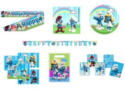 The Smurfs Fiesta Cumpleaños Gama Decoraciones de Globos Vajilla Suministros