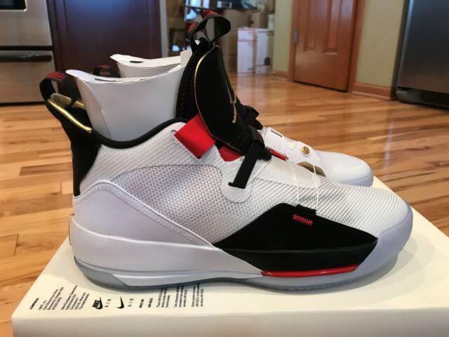 4e37dd7e3baf Nike Air Jordan 33 Future of Flight White Gold Black AQ8830 100 Men s Size  14