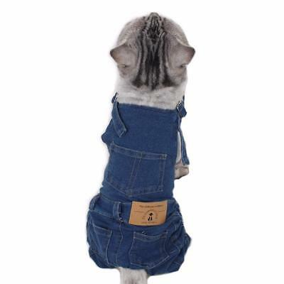 Denim Dog Vest Clothes Personalized Puppy Cat Spring Style Pet Clothing Costume