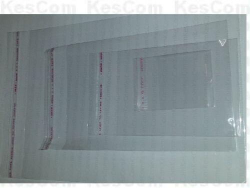 +25mm 100 Stück Folienbeutel selbstklebend 80 x 110mm transparent unbedruckt